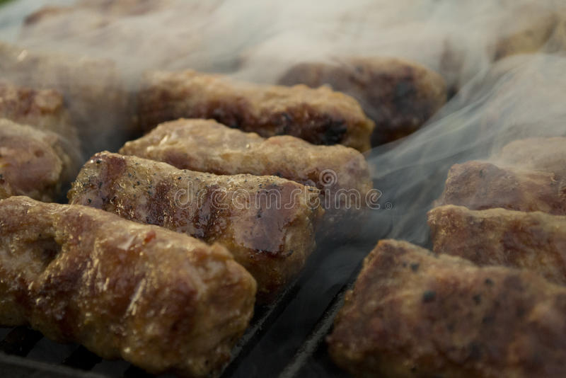 Mici - romanian summer traditionaly food stock photos