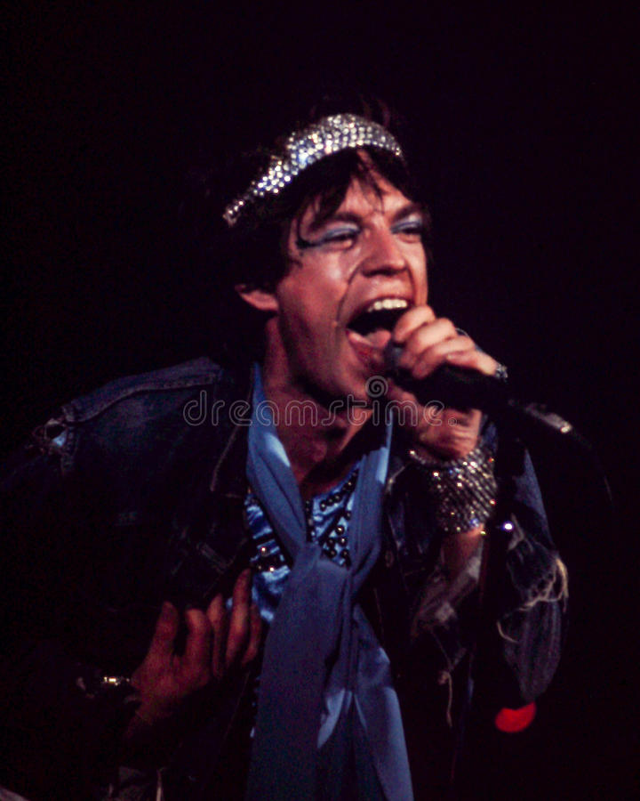 Jagger, Rolling Stones. stock photos