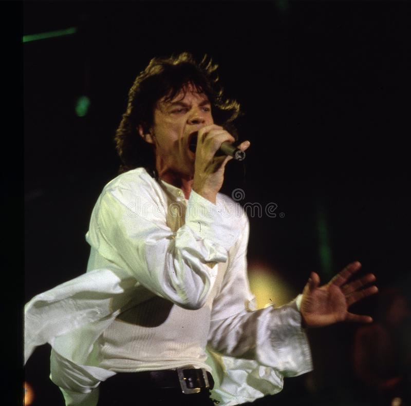 MICK JAGGER UND THE ROLLING STONES stockfoto