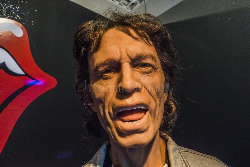 Mick Jagger wosku postać obrazy stock