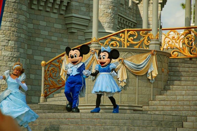 Mickey和Minnie阶段的 库存照片