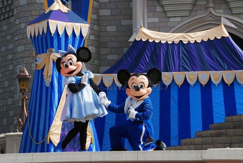 Mickey и Минни в волшебном королевстве стоковое изображение