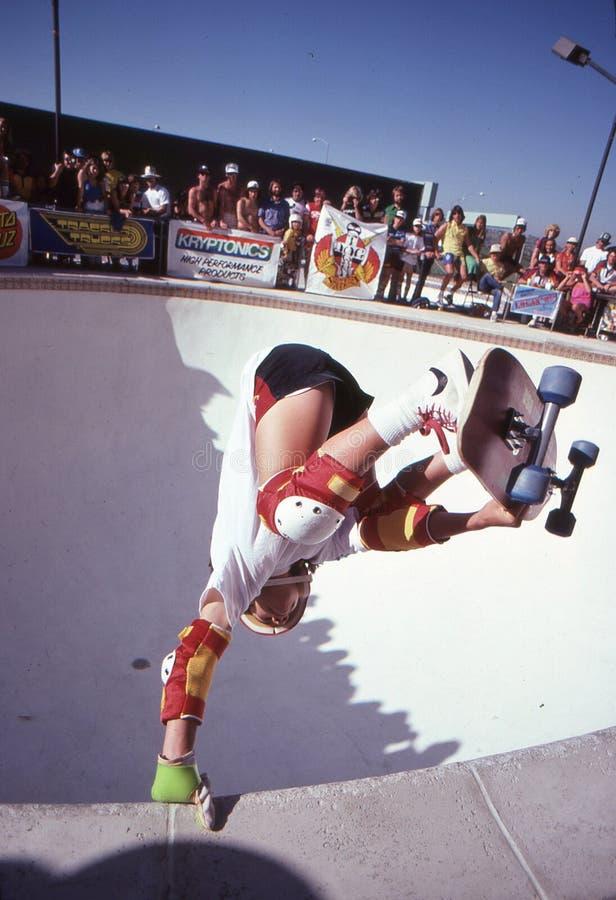 Mickey Alba-pool het berijden stock afbeelding