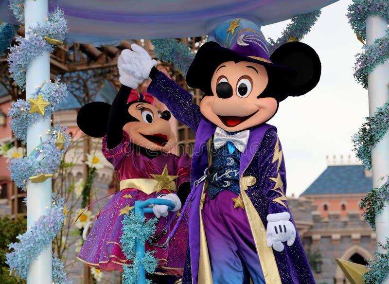 Mickey en Minnie stock fotografie
