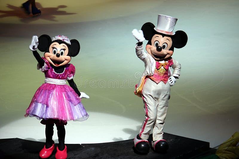 Mickey en Minnie in Disney op Ijs 2 stock fotografie