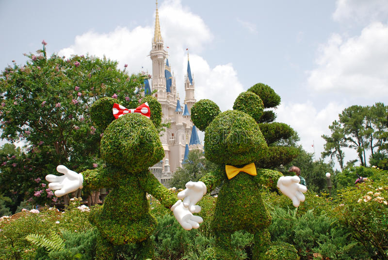 Mickey en Minnie Mouse royalty-vrije stock foto's