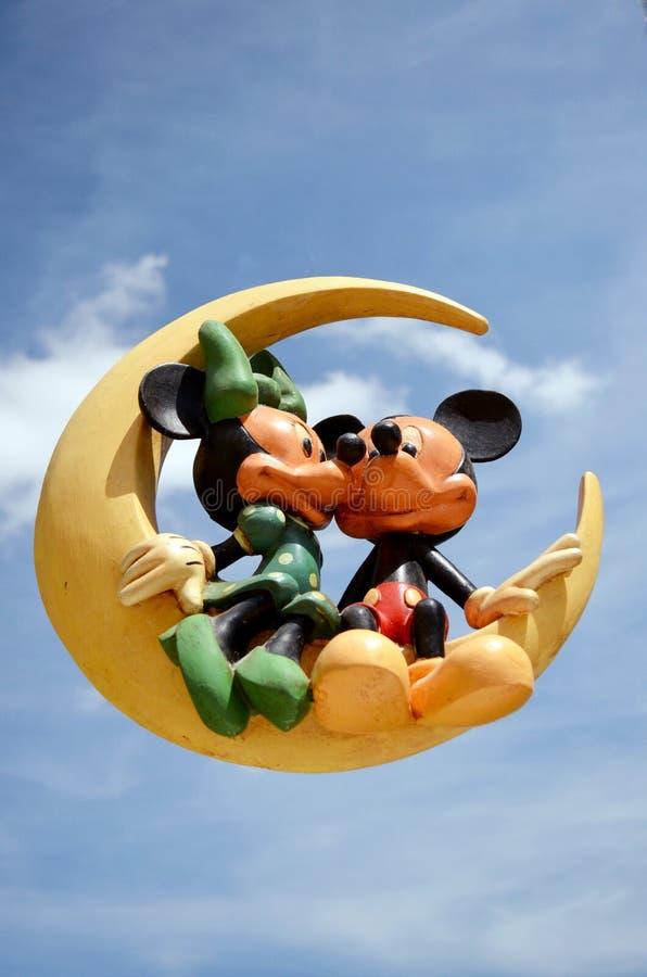 Mickey en Minnie-muis royalty-vrije stock foto's