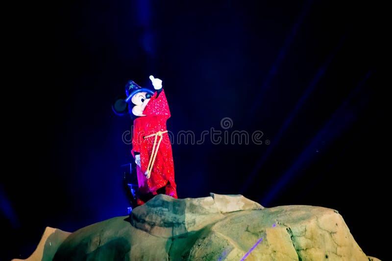 Mickey magik na wierzchołku góra przy Hollywood studiami w Walt Disney World fotografia royalty free