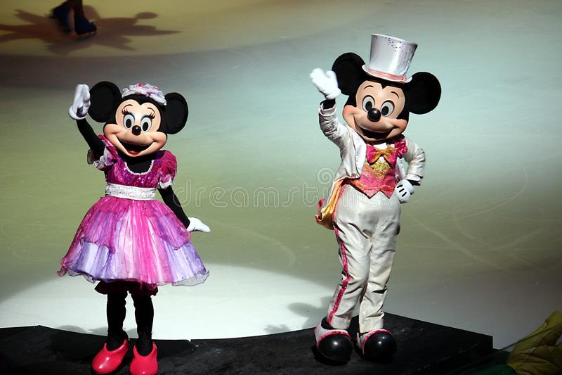 Mickey And Minnie In Disney On Ice 2 Editorial Photography