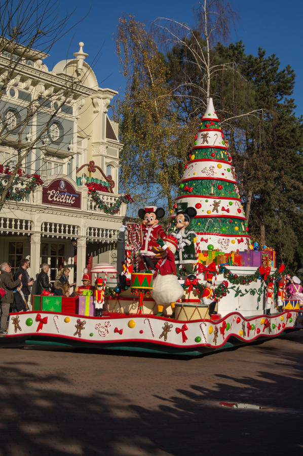 Mickey and Minnie float stock images