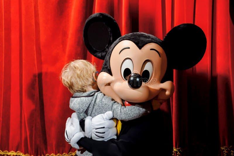 Mickey Mouse al Disneyland Resort Parigi fotografia stock