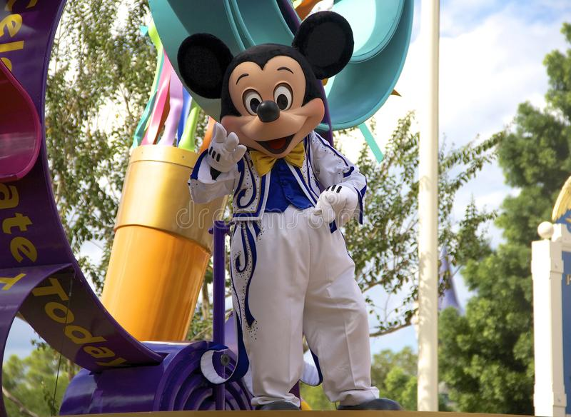 Mickey Mouse bij Disney-Wereld Orlando Florida stock foto's