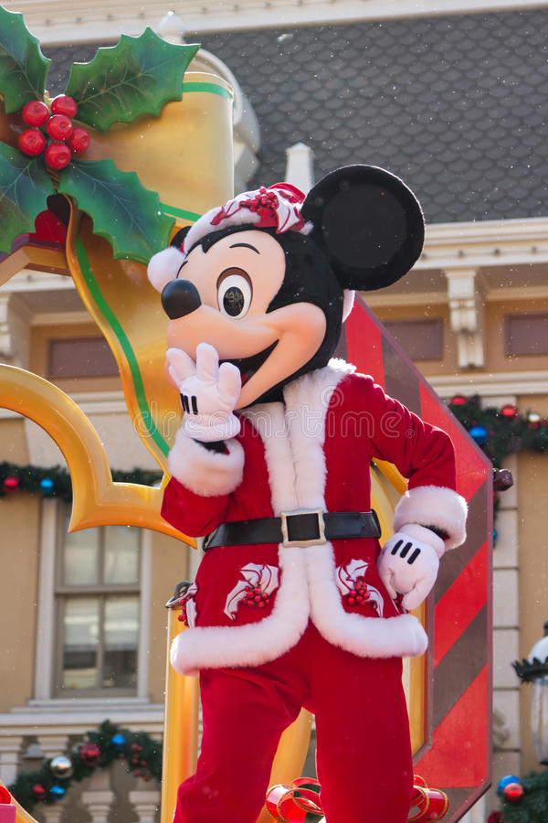 MICKEY MOUSE Celebrate Christmas New Year Editorial Stock Image
