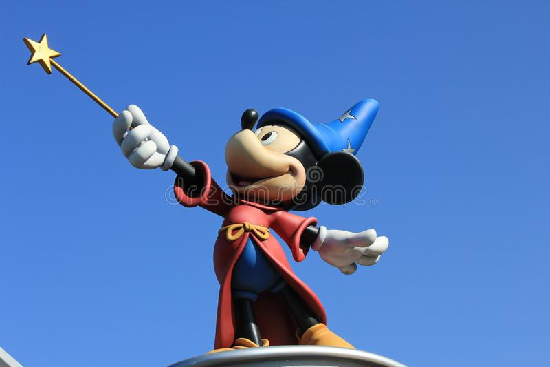 Mickey Mouse in Disneyland Paris, Frankrijk stock foto's