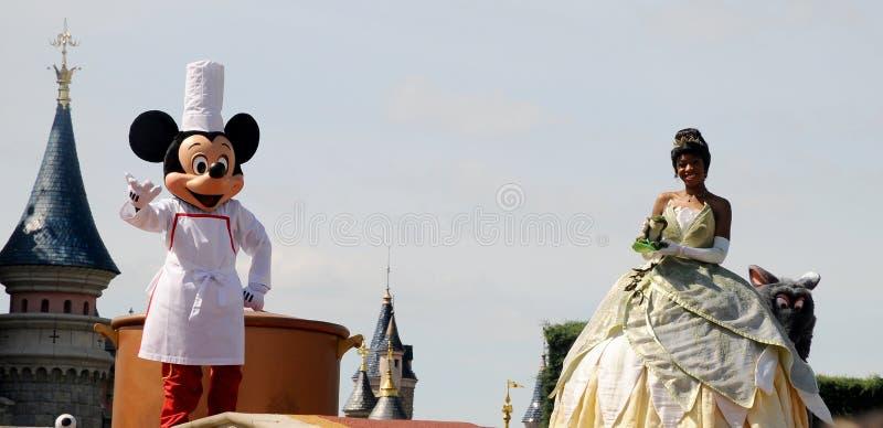 Mickey Mouse e la principessa leggiadramente fotografia stock libera da diritti