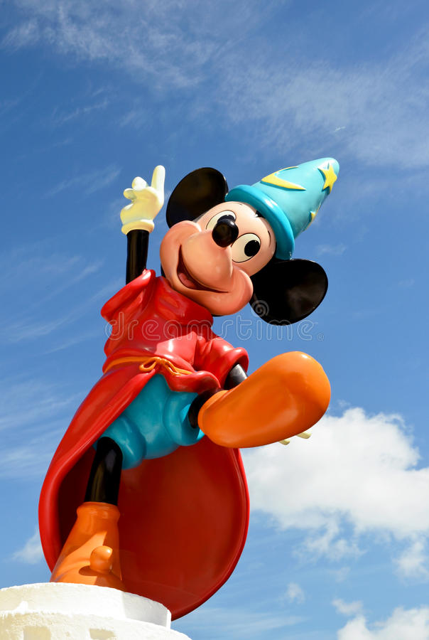 Mickey mouse fantasia disney figure royalty free stock photography