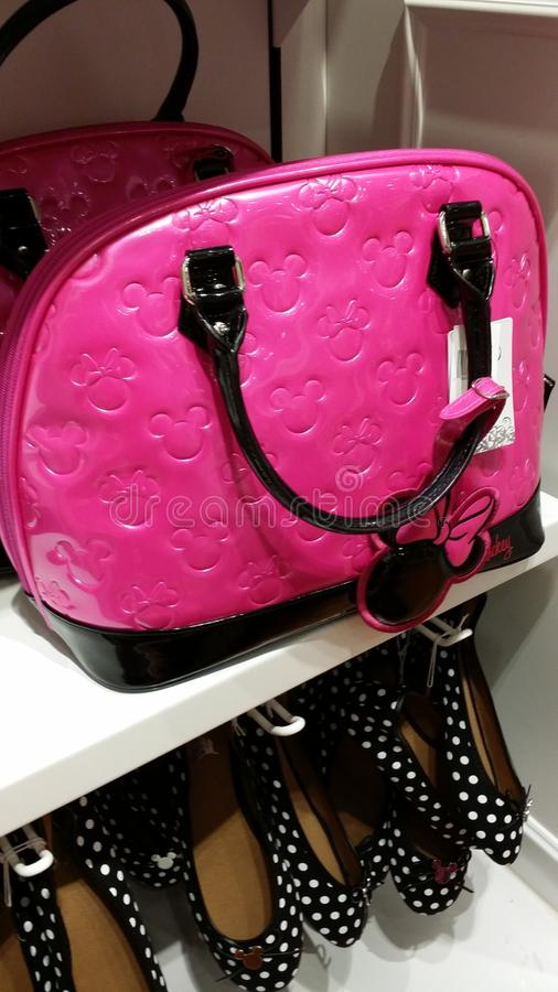 Mickey Mouse Fashionable Pink Bag royalty-vrije stock foto's