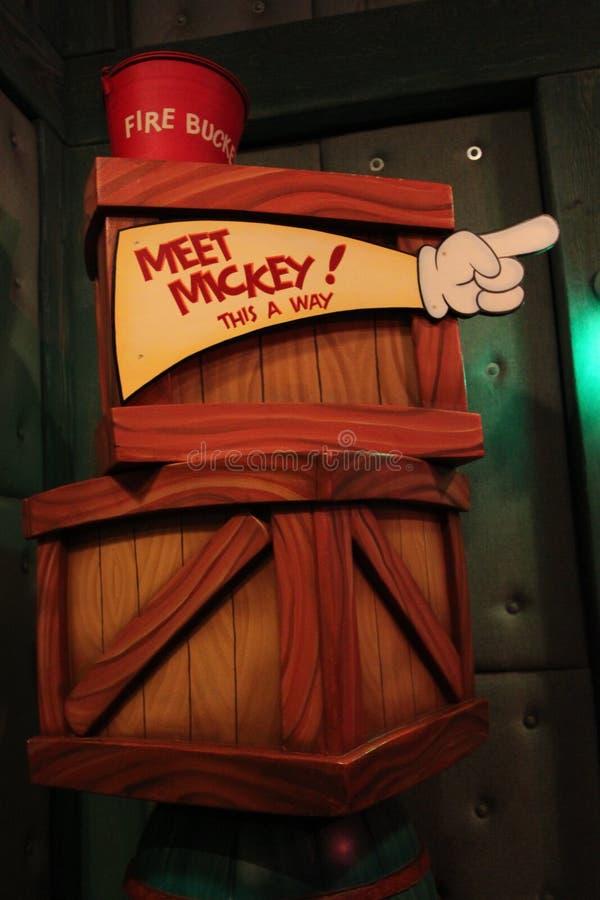 Mickey Mouse House chez Disneyland la Californie photos stock