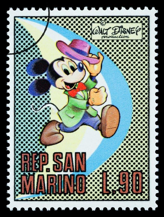 Mickey Mouse Postage Stamp royaltyfri illustrationer