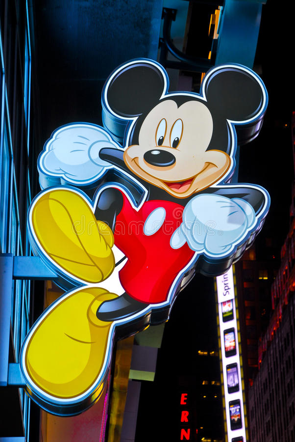 Download Mickey Mouse Sign At Times Square Disney Store Editorial Stock Image - Image: 22495004