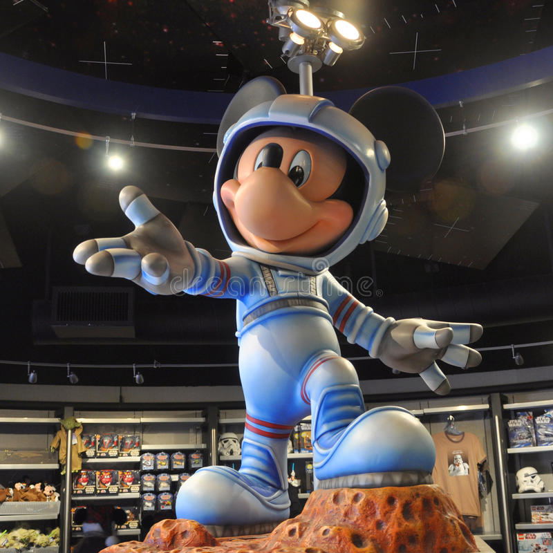 Download Mickey Mouse in space suit editorial image. Image of landmark - 23287170