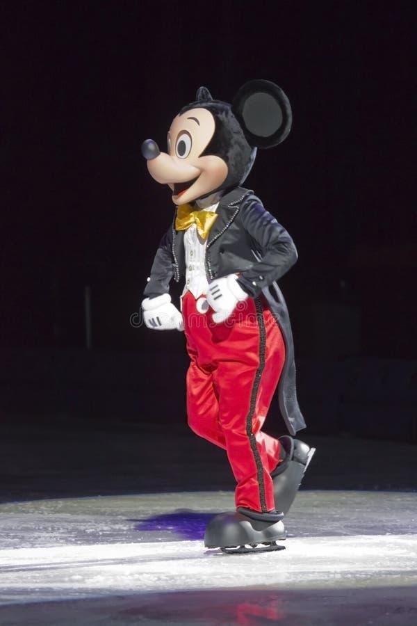 Mickey Mouse su ghiaccio fotografia stock libera da diritti