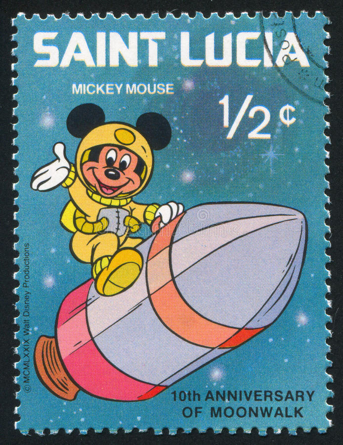 Mickey no foguete imagem de stock royalty free