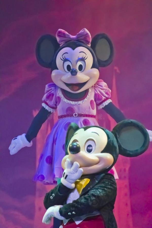 Mickey Och Minnie Mus Redaktionell Bild