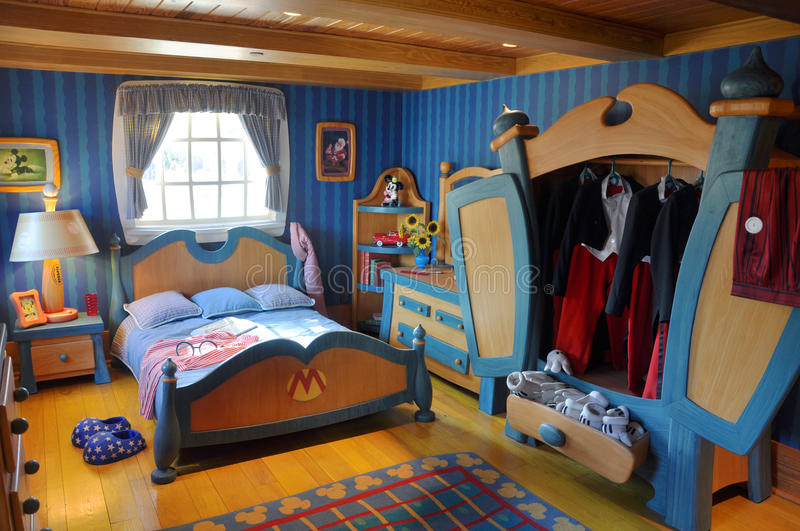Mickey S Bedroom In Disney World Orlando Editorial Stock Image