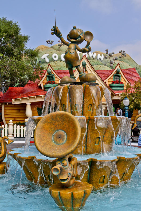 Disneyland Mickey Toon Town. Picture of Mickey at Toon Town 2013 royalty free stock photos