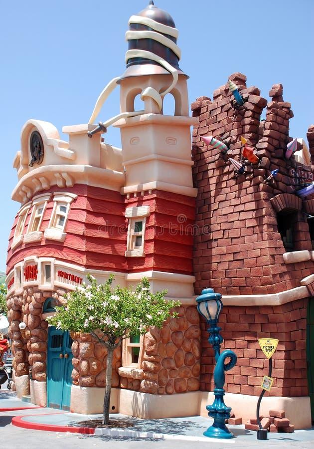 Mickey toontown in Disneyland stock fotografie