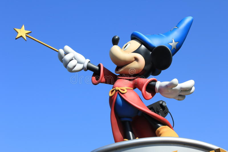 Micky Mouse in Disneyland Paris stockbild