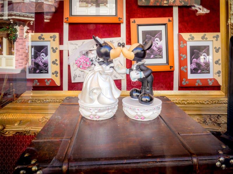 Micky och kortkort, Disney värld royaltyfria foton
