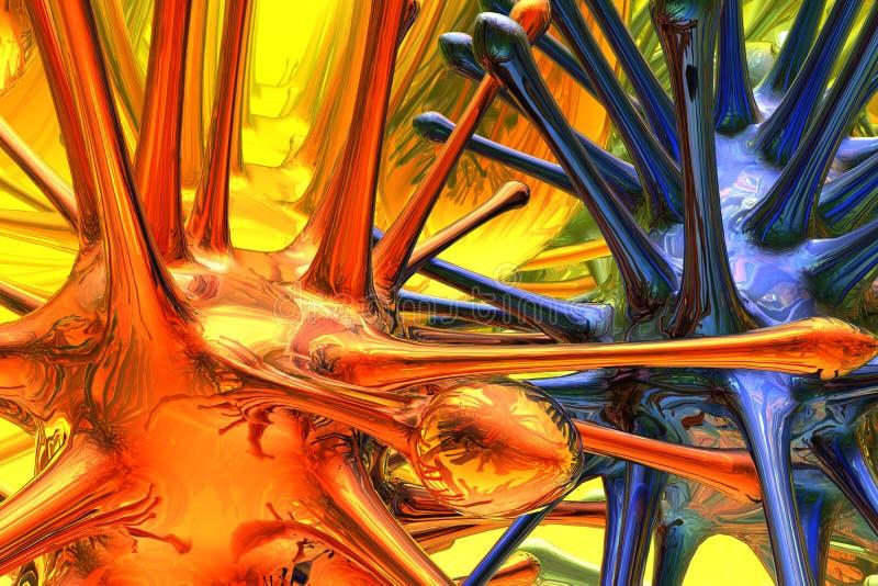 micróbio 3d ilustração do vetor