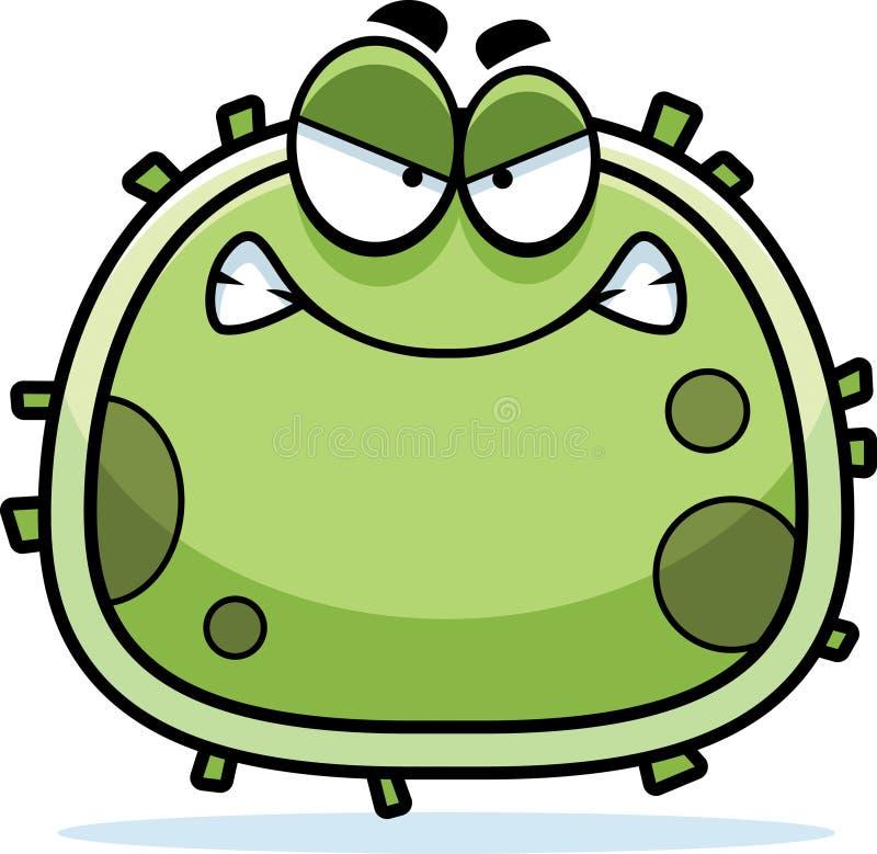 Micróbio irritado do germe ilustração stock