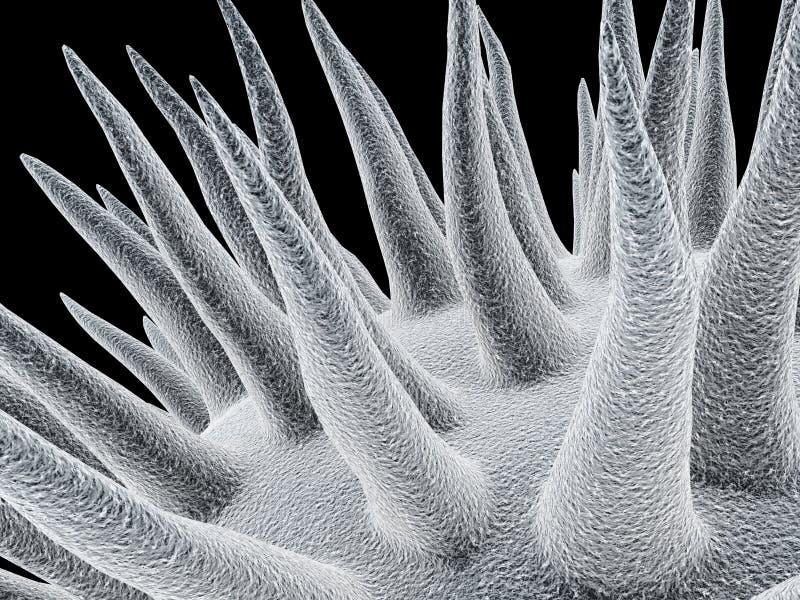 Micróbios ilustração royalty free