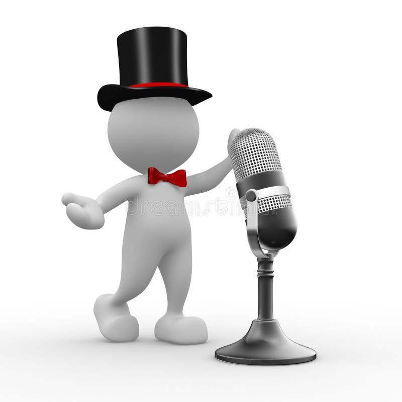 Micrófono stock de ilustración