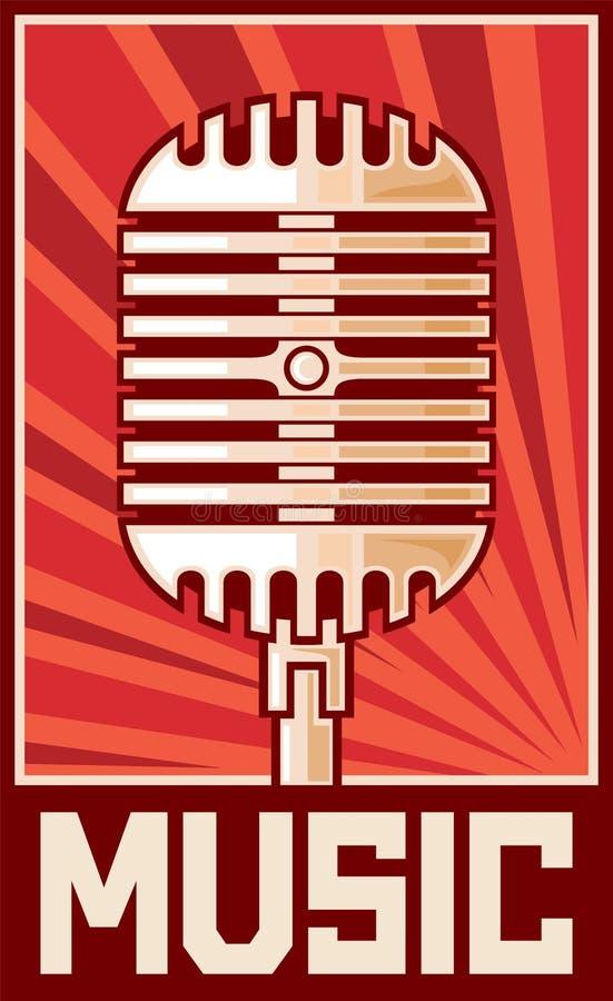 Micrófono ilustración del vector