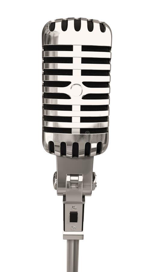 Micrófono aislado ilustración del vector