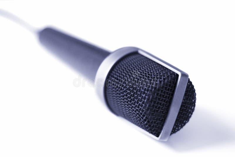 Micrófono (azul) imagen de archivo