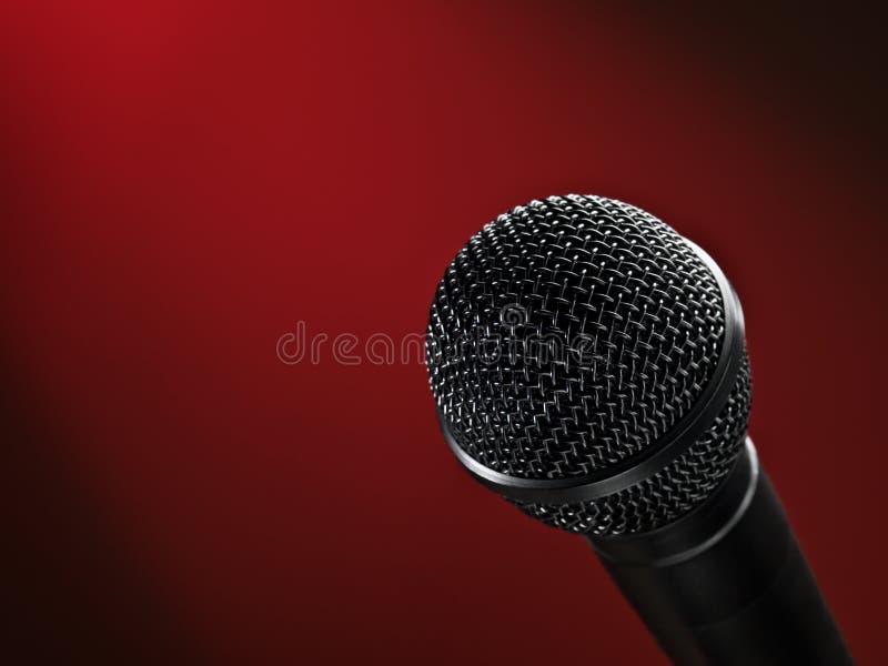 Micrófono de la etapa fotos de archivo