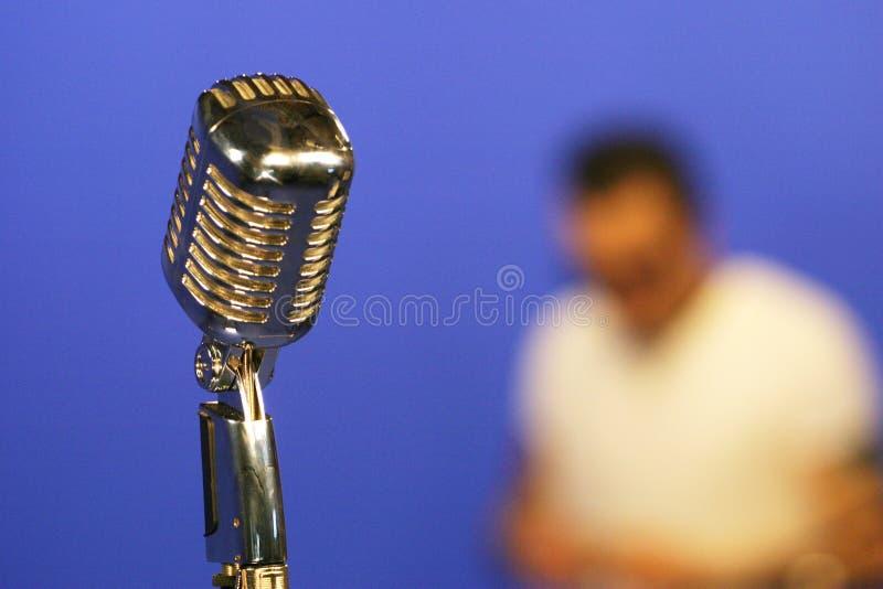 Micrófono de la vendimia foto de archivo