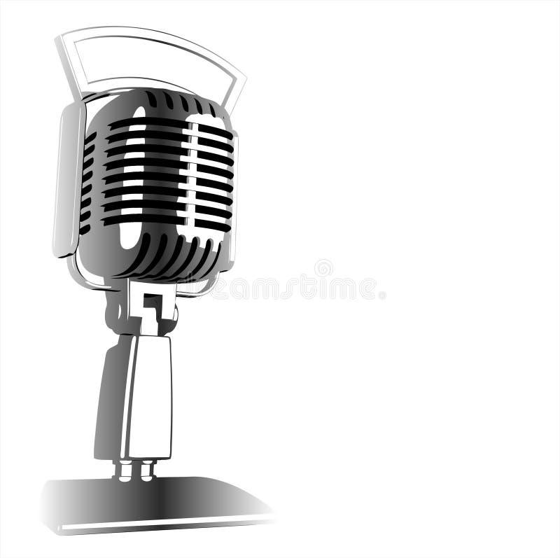 Micrófono de la vendimia - vector ilustración del vector