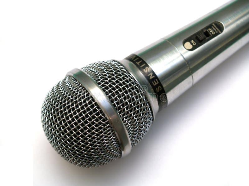 Micrófono de plata imágenes de archivo libres de regalías