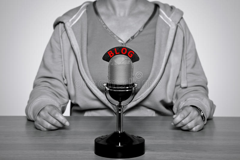 Micrófono del BLOG fotos de archivo libres de regalías