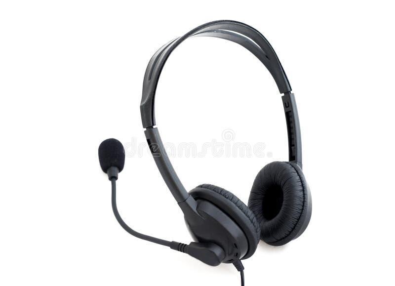 Micrófono del receptor de cabeza w fotos de archivo libres de regalías