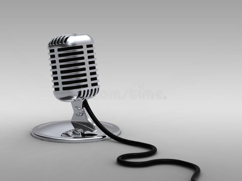 Micrófono del viejo estilo fotos de archivo