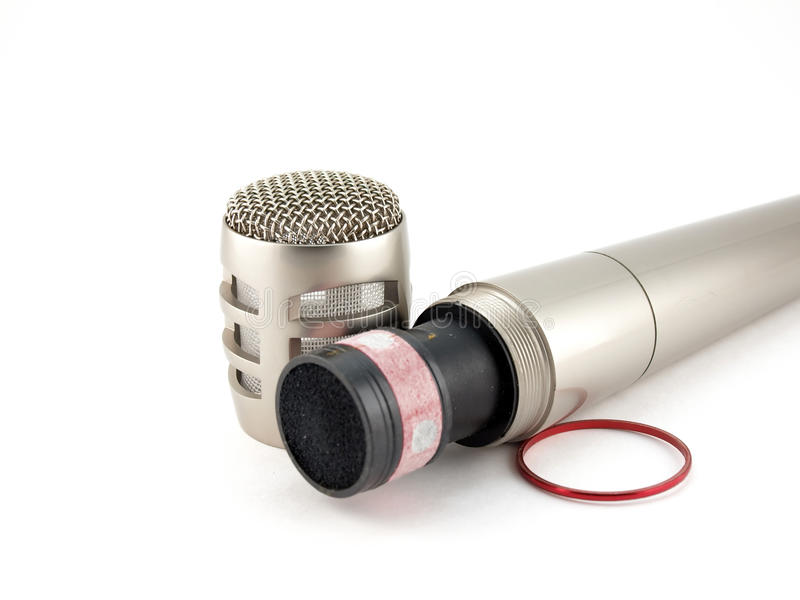 Micrófono desensamblado fotos de archivo libres de regalías