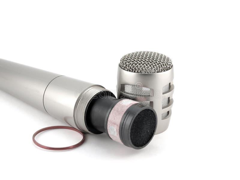 Micrófono desensamblado foto de archivo libre de regalías