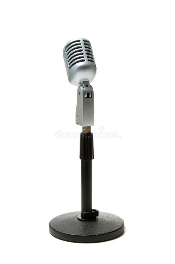 Micrófono en blanco foto de archivo
